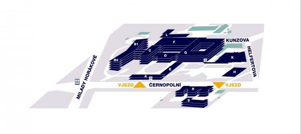 Mapa Dětské nemocnice Brno