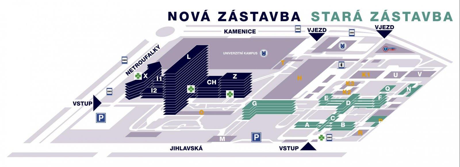 Jak Nas Najdete Fakultni Nemocnice Brno
